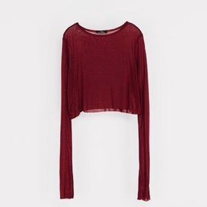 Zara Collection Brick Red Special Tee NWT Sz-Small